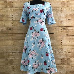 Dresses & Skirts - Pinup retro rockabilly floral dress.